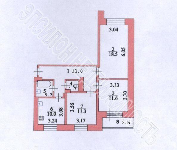 Продам 3-комнатную квартиру в городе Курск, на улице Дейнеки, 5д, 1-этаж 9-этажного Кирпич дома, площадь: 72/41.4/10 м2