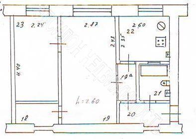 Продам 2-комнатную квартиру в городе Курск, на улице Школьная, 5/2, 1-этаж 4-этажного Кирпич дома, площадь: 42.3/26.5/6.1 м2