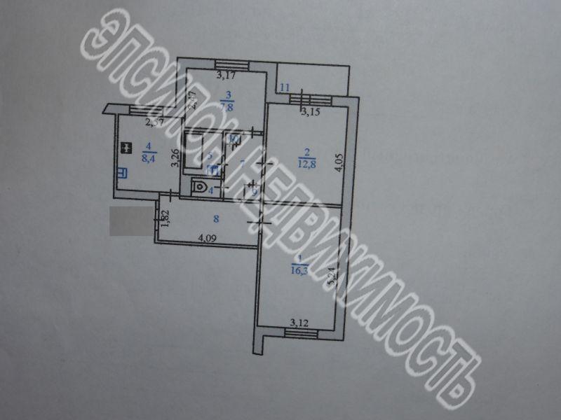 Продам 3-комнатную квартиру в городе Курск, на улице Майский б-р, 4, 6-этаж 9-этажного Панель дома, площадь: 59.9/39/9 м2
