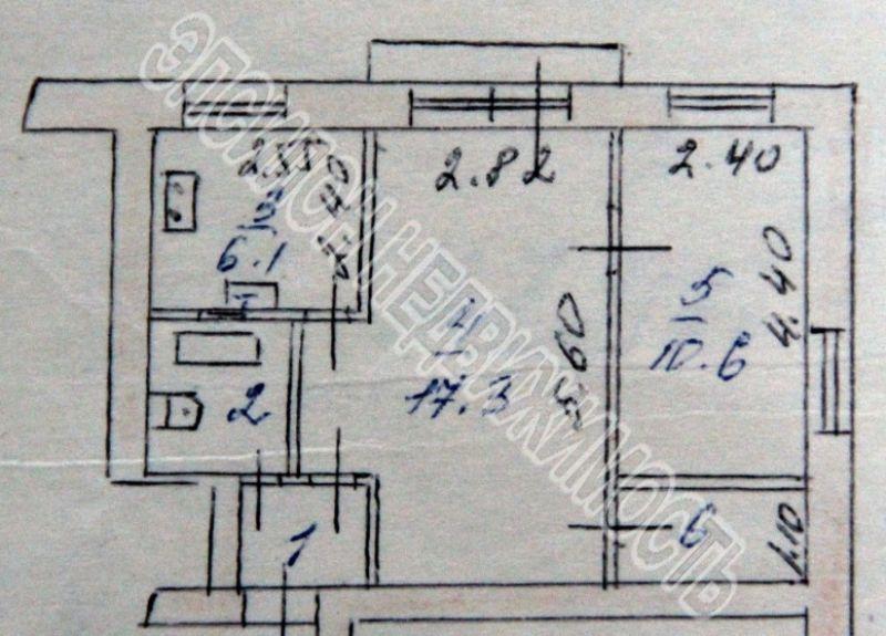 Продам 2-комнатную квартиру в городе Курск, на улице Дубровинского, 3а, 4-этаж 5-этажного Кирпич дома, площадь: 41.6/27.9/6.1 м2