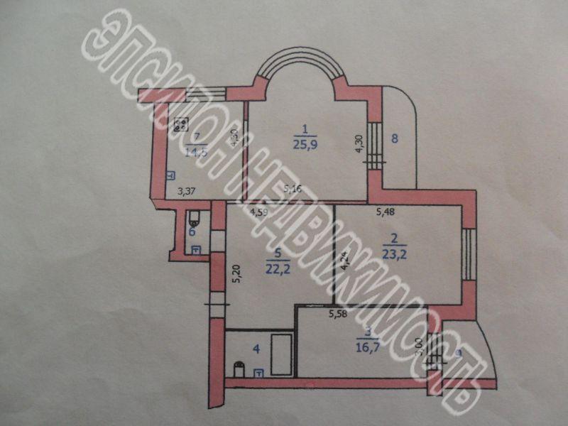 Продам 3-комнатную квартиру в городе Курск, на улице Дружининская, 33а, 2-этаж 10-этажного Кирпич дома, площадь: 120/66/14.5 м2
