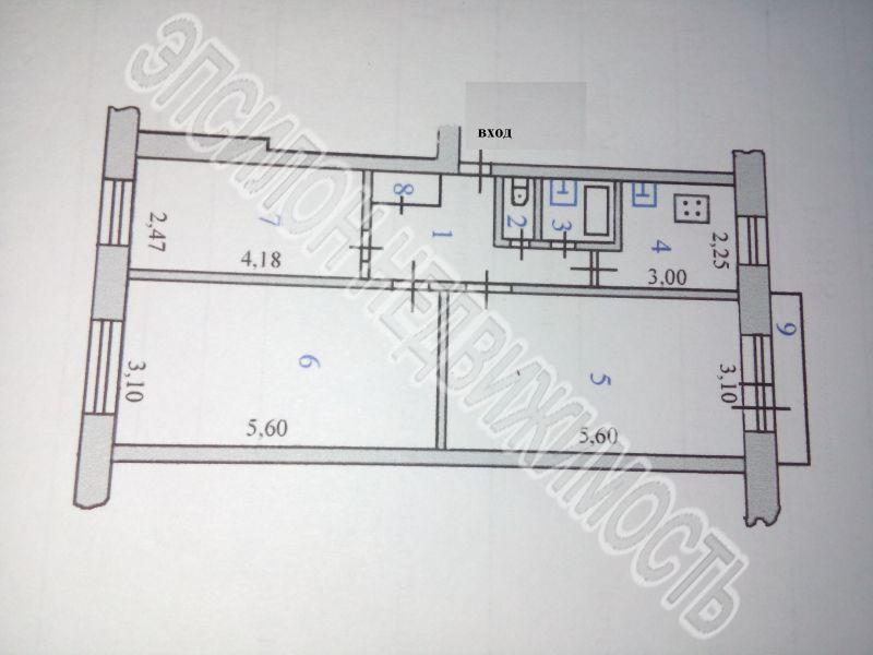 Продам 3-комнатную квартиру в городе Курск, на улице Дейнеки, 30, 2-этаж 5-этажного Панель дома, площадь: 61.2/45.02/6 м2