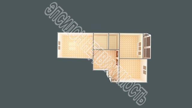 Продам 2-комнатную квартиру в городе Курск, на улице Гайдара, 26а, 8-этаж 10-этажного  дома, площадь: 71.9/35/13.3 м2