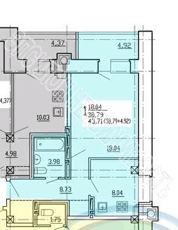 Продам 1-комнатную квартиру в городе Курск, на улице Звездная, 11б, 3-этаж 10-этажного  дома, площадь: 43.71/18.04/8.04 м2