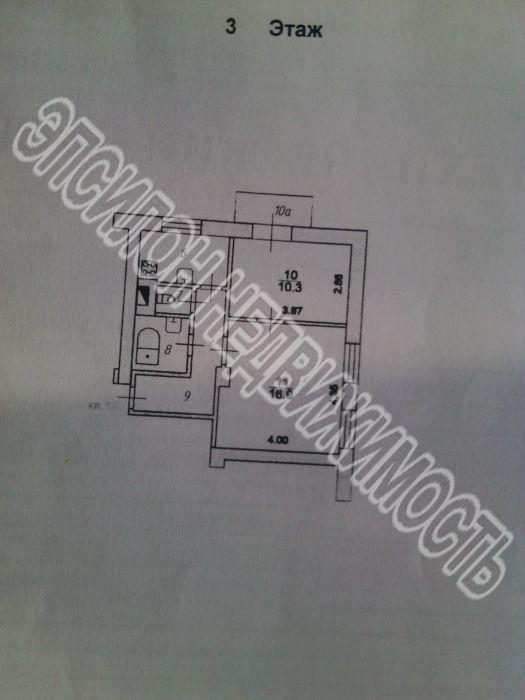 Продам 2-комнатную квартиру в городе Курск, на улице Володарского, 8а, 3-этаж 3-этажного Кирпич дома, площадь: 42/32/6 м2