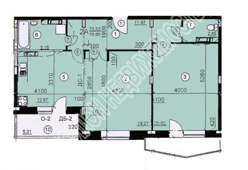 Продам 2-комнатную квартиру в городе Курск, на улице Хуторская, 4, 2-этаж 10-этажного Монолит-кирпич дома, площадь: 77/39.89/12.56 м2
