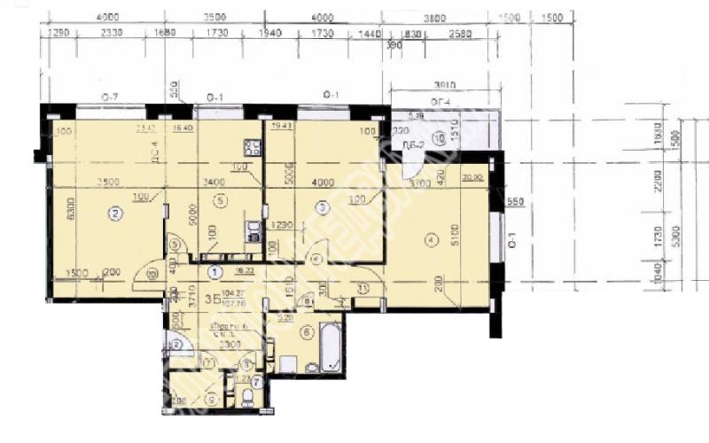 Продам 3-комнатную квартиру в городе Курск, на улице Хуторская, 4, 3-этаж 10-этажного Монолит-кирпич дома, площадь: 106.9/62.85/16.39 м2