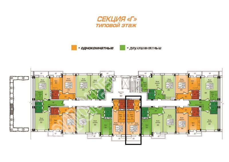 Продам 1-комнатную квартиру в городе Курск, на улице Энгельса, 0, 5-этаж 10-этажного  дома, площадь: 28.9/14.2/6 м2