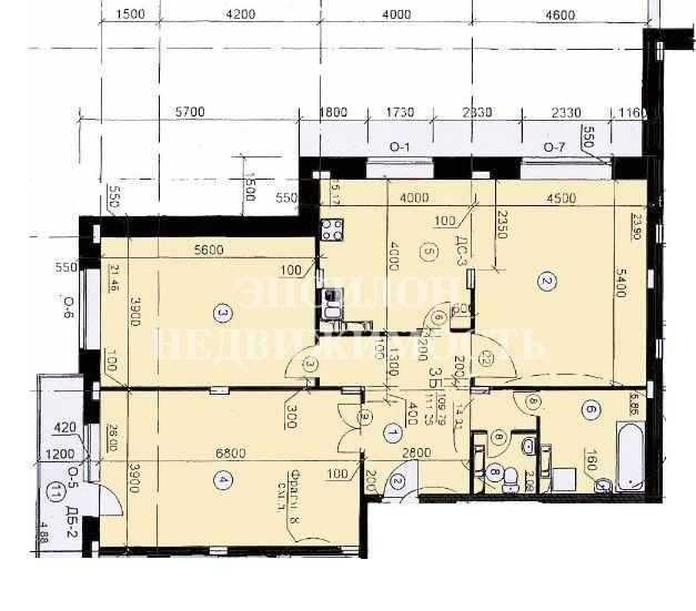 Продам 3-комнатную квартиру в городе Курск, на улице Хуторская, 4, 4-этаж 10-этажного Монолит дома, площадь: 111.24/71.36/15.17 м2