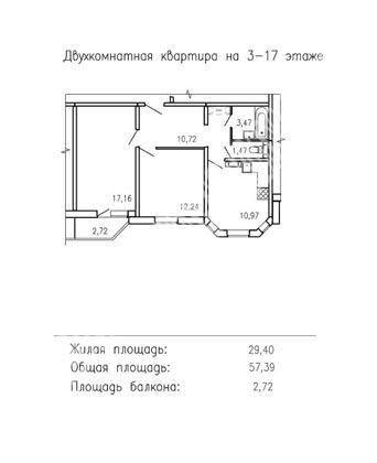 Продам 1-комнатную квартиру в городе Курск, на улице А. Дериглазова пр-т, 113, 6-этаж 17-этажного Панель дома, площадь: 57.39/29.4/10.97 м2