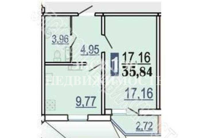 Продам 1-комнатную квартиру в городе Курск, на улице В. Клыкова пр-т, 79, 10-этаж 17-этажного Панель дома, площадь: 37.2/17.16/9.77 м2
